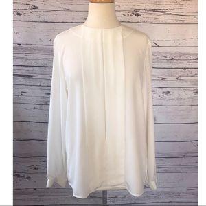 Vintage Liz Claiborne White Back Button Blouse